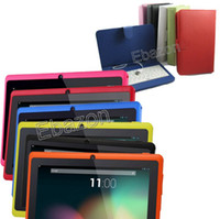 Wholesale Q88 Tablet PC A23 Dual Core Inch Android Free Leather Case Keyboard GHz MB GB Dual Camera WiFi Capacitive Screen Web Cam