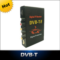 DC12V-1A 2 audio output  Free Shipping - Car DVB-T2 Receiver Digital TV BOX Tuner Receiver DVB-T2 Set Top Box