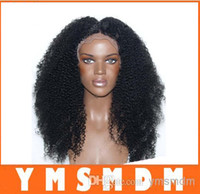 Wholesale heat resistant fiber afro kinky curl wig kinky curly synthetic lace front wig long fluffy wigs for black women
