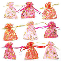Wholesale S5Q x9cm Mixed Color Organza Wrap Jewelry Gifts Pouch Bags Pack Wedding AAAASF