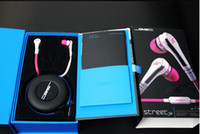 MP3/MP4 beautiful iphone ipad - Beautiful Mini Wired SMS Audio street by cent In ear wired headphone black and white earphone for iPad iPod iPhone