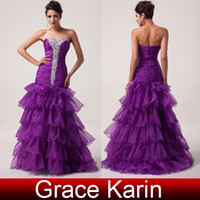 2014 GK Prom Dresses Under $100 Strapless Voile Layers Desig...