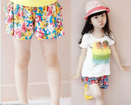 Wholesale Summer New Arrival Children Clothes Pure Cotton Feather Parrol Short Sleeve Kid s Girl T Shirt With Floral Kid s Girl Shorts Separate Sale