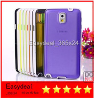 For Samsung   Ultrathin multicolors Plastic PC shell frame clear skin case Bumper for Samsung Galaxy S5 NOTE 3 N9000