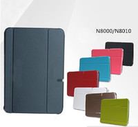 Wholesale New Black Ultra Slim Book Case Cover for Samsung Note N8000 N8010