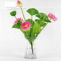 Lotus craft supplies - Diameter cm Artificial Lotus Flower Plants Craft Supplies for Wedding Party Home Decoration K0447