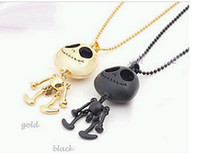 Wholesale 2014 NEW Fashion and personality grows skeleton necklace to restore ancient ways atmosphere sweater chain couple