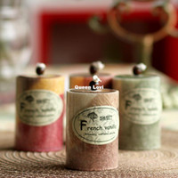 Wholesale Romantic wedding candle birthday candle cylinder fruit aroma fresh flavor