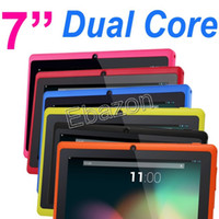Wholesale 7 Inch Q88 Dual Core Allwinner A23 GHz Tablet PC Android MB GB Dual Camera WiFi Point Multi Touch Screen Factory Price MID