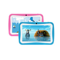 Wholesale Lovely quot Inch Android Kids Tablet PC A13 For Kids Children Tablets Capacitive GB Dual Camera WIFI Kid Tablet iRuLu