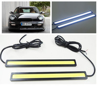 Cheap 20% OFF ! 2* 14CM 9W COB 12V LED COB Car Auto DRL Driving Daytime Running Lamp Fog Light White