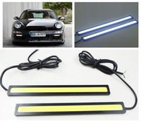 auto driving light - 20 OFF CM W COB V LED COB Car Auto DRL Driving Daytime Running Lamp Fog Light White