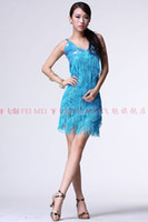 Cheap The new Latin skirts dress women wear costumes sequined costumes Adult Latin dancing dress tassel strap Latin exercises