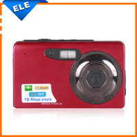 Wholesale New Arrival TFT LCD Screen MP HD P Digital Camera x Digital ZOOM Fashion Color Red Pink Retail