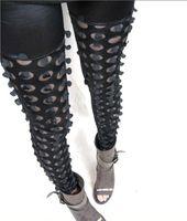 Foot Cover Women Leggings 2014 Hot Sexy Stylish Women Fish Black Scales Pants Cutout Splicing Skinny Pierced Holes Leggings HTDDK-153