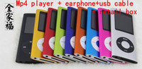 Wholesale 4th Gen mp3 mp4 player GB inch screen with FM radio recording function Hot sale DHL