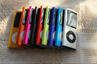 Wholesale 4th GB MP3 MP4 Player Lcd Video Radio ebook FM game digital slim MP3 MP4 colors optional