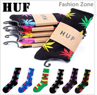 Wholesale 240pc pairs Hot sale Huf Plantlife Socks Cannabina Multiple Colors Brand Marijuana Weed Leaf Skateboard Socks