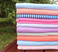 Fabric knit fabric - Baby cotton knit fabric double knitted cotton fabrics width CM A690