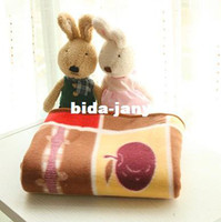 Wholesale D d bear package edge double wool blanket Baby Blanket