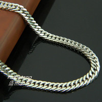 Wholesale 4 mm cm cm Fashion L Stainless Steel Silver Curb chain Necklace for Man amp Women Titanium Steel Necklace Jewelry