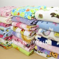 Wholesale Baby blanket Coral fleece blankets kid s cartoon printing blanket cm blue