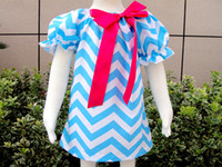 Wholesale EMS DHL free ship Girls chevron dress Baby chevron dresses Kids zigzag dress Princess summer dress children s clothing