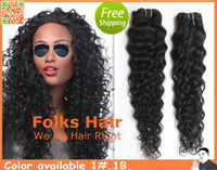 Wholesale 12 quot quot Mix Lengh Brazilian Human Hair Extensions Machine Weft Deep Wave DHL B