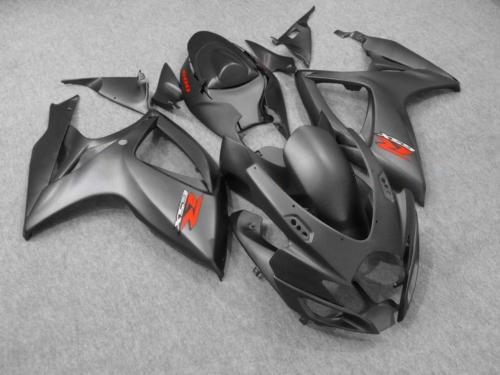 Матовый черный обтекатель комплект OEM литья под давлением для SUZUKI GSXR 600 750 K6 2006 2007 GS фото