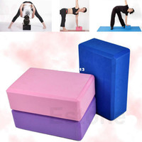 Wholesale New Arrive pc Yoga Block Brick Foaming Foam Home Exercise Practice Fitness Tool Colors
