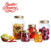 Wholesale Glass jar storage tank zakka four seasons canister piece set