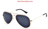Wholesale Oculos Vintage Shade UV400 Aviator Metal Classic Retro Brand Men Women Fashion Polarized Sunglasses