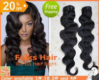Wholesale 20 off Virgin Brazilian Remy Hair Weave Body Wave Processed Human Hair Extension Inch Full Stock Color b