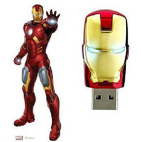 Wholesale 128GB GB GB LED Iron Man Memory Stick Flash Drive Storage USB Silver Tone Gold Red Silver GB GB GB LED Iron Man Memory New