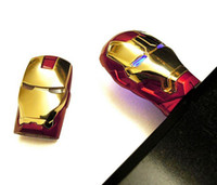 Wholesale USB Metal Case LED Iron Man GB GB GB Flash Thumb Drives Pro Sports Branded Gold Red Silver USB Metal Case LED Iron Man