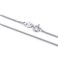 silver - Aivni solid sterling silver chains necklace inch inch box chains Fine jewelry yl2039