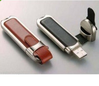 Wholesale NEW GB Leather USB Flash Drive USB2 Memory Stick Jump Pen Drive gb USB GB USB Flash Drive Memory Stick Brown Black color