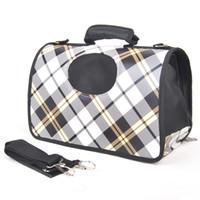 Wholesale Pet bag checkerboard palid breathable dog pack cat bag shoulder bag dorgan carry out bag