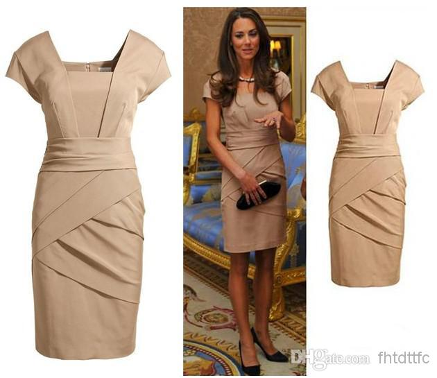 Beige Cocktail Dress - Ocodea.com