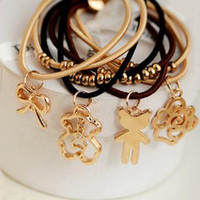 Wholesale New Pendant Hair Rubber Bands Multiple Use Crown Cartoon Bowknot String Mix Design