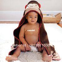 baby bathrobe - Retail boy girl Animal Baby bathrobe baby hooded bath towel kids bath terry children infant bathing baby robe GLADBABY