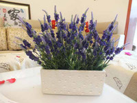 Wholesale Fashion Home decoration artificial flower silk flower handmade living room table lavender Colors K0455