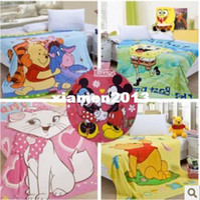 Wholesale Retail baby cartoon Coral Fleece Children s Blanket boys girls Comforter Sleeping Quilt Travel Blanket Bed Sheet