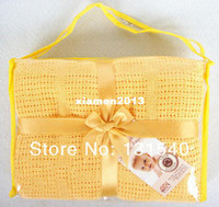 Babies Solid Unisex brand 100% cotton blanket crochet newborn baby blanket on the bed cellular blanket baby knitted blanket 100*140 2013 new