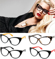 Wholesale 2014 Color Choice Vintage Classical Cat Eyes Design Clean Lens Eyeglasses Glasses TYJA35 colors