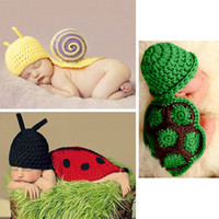 Unisex Summer Crochet Hats Baby Infant Aminal Knit Crochet Costume Photography Tool Beanie Hat Cap M1510