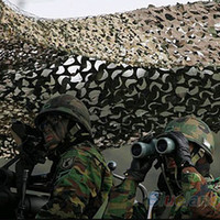 Wholesale 1x2m Outdoor Sports Camouflage Net Camo netting Military airsoft paintball concealment for hunting blind