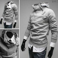 Jackets Men Cotton High Quality New Men's Hoodies Sweatshirts Rabbit Hair Collar Oblique Zipper Men's Jacket Coat