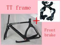 Wholesale 2014 new arrival carbon frame GRAAL bicycle frame full carbon road frames TT Frames Time Trail Triathlon bike frame front brake