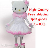 Wholesale crazy price kitty princess queen cartoon mascot costumes custom made professional design fancy costumes dress adult size